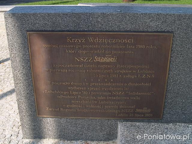 Lubelski pomnik Solidarności