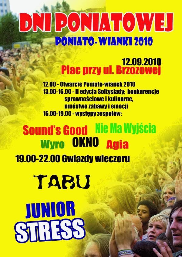 Plakat: Dni Poniatowej 2010