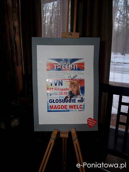 Poniatowski WOŚP 2011 w CKPiT - Plakat z autografem Magdy Welc