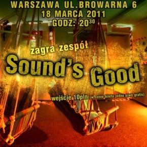 Najbliższy koncert poniatowskiej kapeli Sound's Good
