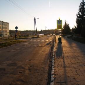 Ulica Szkolna w Poniatowej