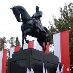 W Poniatowej istniał pomnik Józefa Piłsudskiego ?