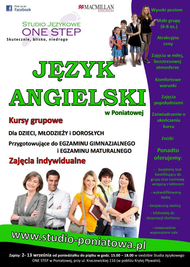 Studio językowe ONE STEP w Poniatowej